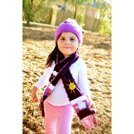 CHILDRENS - Alpaca Knitted Scarf only $20.00