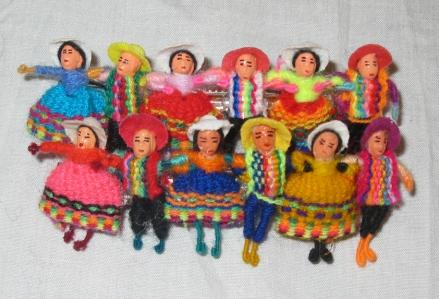 HAIRCLIPS - Minature Peruvian Dolls only $6.00