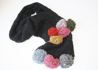 SCARF - Hand Knitted (Roses) only $90.00
